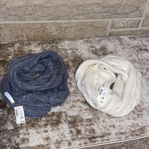 Set of two Aeropostale knit infinity scarves NWT